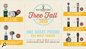 Blue Microphones 'Free Fall 2013' promotion