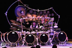 Legendary drummer Terry Bozzio played to a capacity audience in Sweetwater's Performance Theatre.