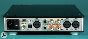 Unlike its predecessor, the M903 sports an AES3 digital input amongst its various options.
