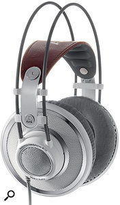 If you want to create headphone mixes that translate well to loudspeakers, using high quality headphones models like Sennheiser's HD650 and AKG's K701 (shown here) will help you judge bass and spatial detail more easily.