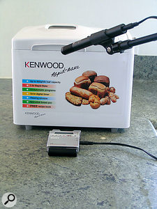 Anything that produces a rhythmic sound is a candidate for sampling. This bread maker, for example, is hypnotically rhythmic.