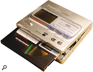 Although small Walkman-style Minidisc players are extremely portable, it's worth spending the extra money on a more reliable professional model (above) for live performance use.