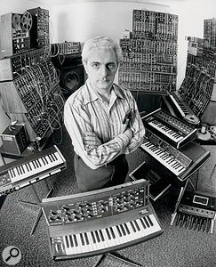 Dr. Bob with some of his creations. Almost everything in this photograph is represented in SampleMoog.