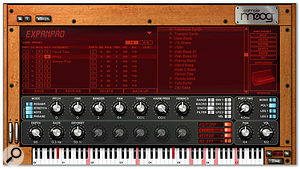 All editing is done within the main SampleMoog window. The functions of the two rows of knobs change depending on which of the buttons to the side is selected.
