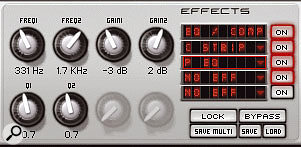 The built-in parametric EQ.