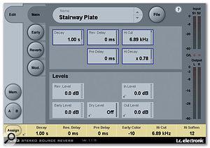 Jason Goldstein's preferred reverb plug-in is TC Electronic's VSS3.