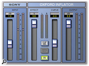 On both tracks, the mix passed through Sony's Oxford EQ and Inflator plug-ins.