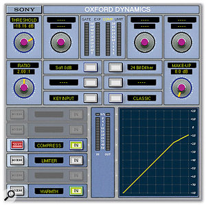 For compressing the stereo backing vocals, Jason used Sony's Oxford Dynamics in dual-mono mode.