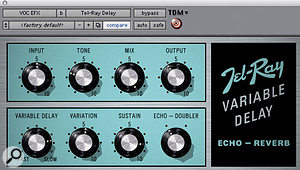 Delay on the 'Buttons' lead vocal came from Telray Variable Delay.