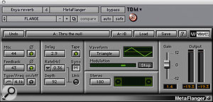 'Buttons' vocal effects were produced by Waves' Metaflanger and Digidesign's Reverb One.
