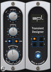 SPL's Transient Designer plug-in was used to add 'point' to the kick drum.