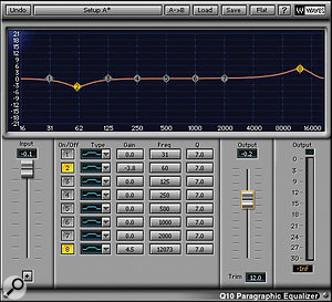 Unusually, asingle processing chain was used for the entire lead vocal on 'Headlines', including Waves' Q10, De-esser, Renaissance EQ and Vox, Bomb Factory's Pultec EQP-1A and Avid's Smack!