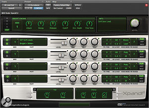 One of the main keyboard parts in the song was added by 40 using the basic Xpand! instrument in Pro Tools, routed through aWaves guitar amp simulator and the inevitable Lo-Fi plug-in.