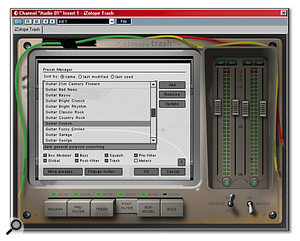 The Preset switch provides access to both supplied and user-configured Trash settings.