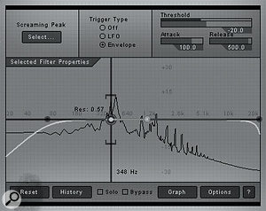 The Pre-Filter module provides pre-distortion EQ and filter effects.