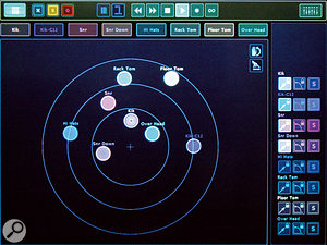 The Surround View, where sources are placed visually around the surround spectrum.