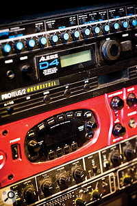 For the most part, Jake Gosling uses only software effects and processors, but relies on his Line 6 Pod for many guitar sounds.