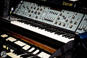 In contrast to his dependence on software effects, Jake Gosling owns and prefers to use real vintage keyboards, including his Roland SH5 synth, Hammond organ, MkI Rhodes piano and Yamaha upright.