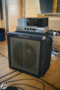 Jim's favourite bass amp is the Ampeg Portaflex B15.