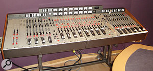 The ex-Abbey Road EMI TG1 desk at Olympic Studios which was used to mix the Arctic Monkeys album.