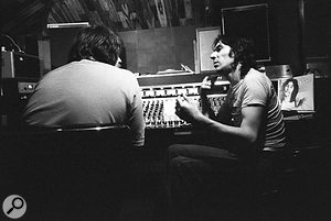 John Wood (left) and John Cale at Sound Techniques Studio in Chelsea.