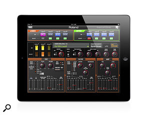 <strong>Roland are set to launch the new JP Synth Editor app for the iPad: </strong>Roland Jupiter 80 iPad app
