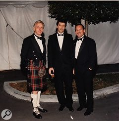 <strong>Keith Barr founder of Alesis Corporation (centre) flanked by Alesis' Russell Palmer (right) and UK distributor at the time Rober: </strong>Keith Barr founder of Alesis (centre) flanked by Alesis' Russell Palmer (right) and Robert Wilson (Sound Technology, UK distributor)