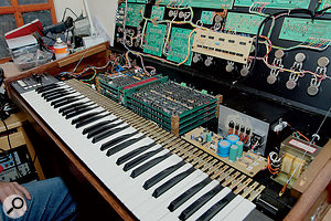 An example of how complex analogue polysynth design can be: the interior of an Elka Synthex.