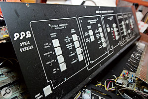 Some of the instruments that pass through Kent Spong's workshop are extremely rare, like this PPG 1003 Sonic Carrier.