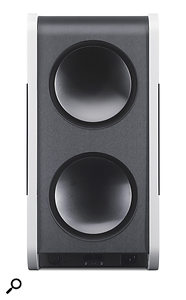 These two rear-facing drivers are the key to the Three's cardioid LF response.