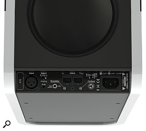 The XLR input can accept either an analogue or AES-3 digital signal. In the latter case, speakers are connected in pairs with a  Cat 5 cable.