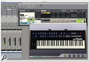 One of the joys of Kore is that whatever host you run it in, all your VST and Audio Units plug-ins are available.