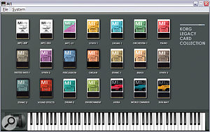 I suspect that only a few musicians have ever had access to this complete collection of sample/preset cards, but they are all bundled with the software M1 — an absolute bargain.
