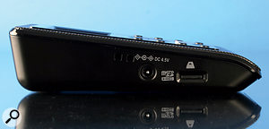 The side panels play host to the various input options, as well as the connector for the optional mains power supply.