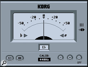 Guitarists will find the onboard tuner handy when recording directly into the D3200.