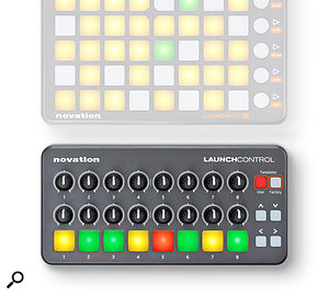Novation Launch Control shown with Launchpad