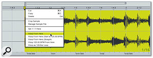 After locating the first bar, you can tell Live to automatically detect the tempo for the rest of the recording.