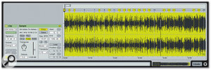 This recording has been correctly analysed; the yellow Warp Markers indicate subtle tempo changes.
