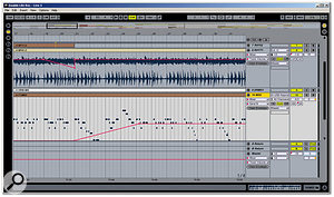 Live's Arrangement view follows a linear recording paradigm, and can be used like a standard DAW. However, don't forget that it can also be tightly integrated with the Session view, which is one of Live's unique features.