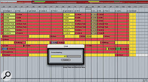 Once a recording has been completed with a number of overdubs and drop-ins, it is useful to compile each track into one continuous audio file.