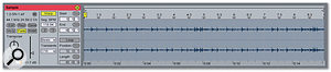The same section of audio as before, Consolidated into a new Clip.