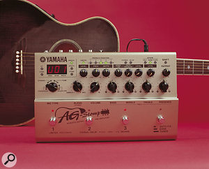 A processor specifically designed for acoustic guitars, such as this Yamaha AG Stomp, goes a long way towards improving the sound of guitars with conventional piezo pickups.