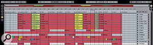 You can see here how each take is automatically named by combining the track name with the number of the take and channel. The automatic colour assignment also helps to identify the take the material has come from.
