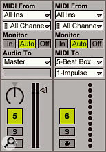 MIDI routing shows how MIDI from one track's output can be routed to the Instrument of another.