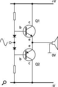 Figure 4: Class-AB amplifier (simplified).