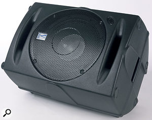 The coaxial speaker design means that the Eclipse speakers disperse sound in the same way whether used upright or on their sides as wedge monitors.