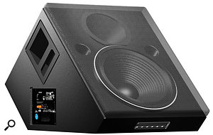 This Meyer Sound wedge monitor is self-powered and is capable of power output up to 550W. However, most dedicated monitors are passive.