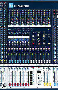 This Allen & Heath ML5000, with an impressive total of 16 auxiliary sends, is well suited to the task of monitor mixing.