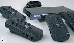 The Hear Technologies Hear Back system is one of several on the market that offer performers the option of self–adjusted monitor mixing.