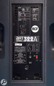 As well as the usual input connectors, mains power inlet and volume control, the rear panel hosts a switch for the speaker's three basic EQ modes.